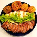 【Instagram】男の手料理、ハッセルバックポテト。