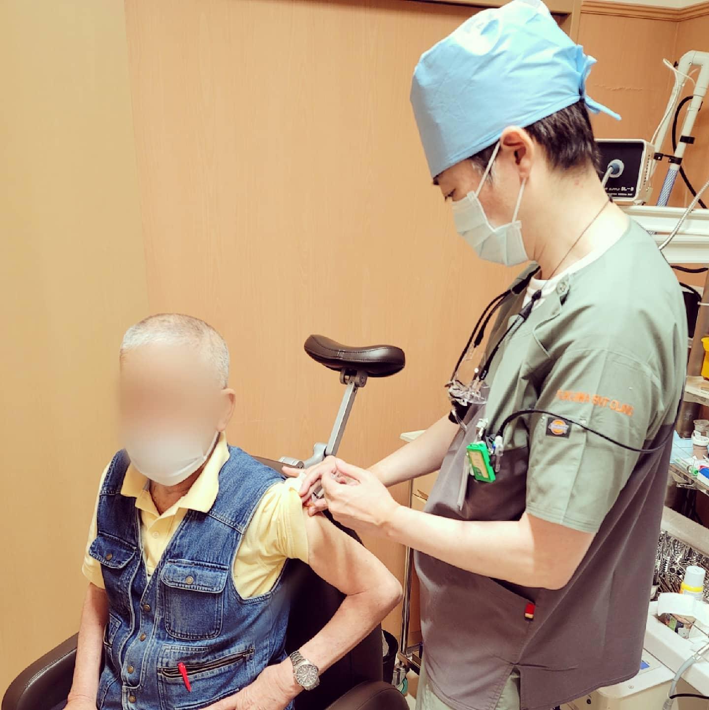 ワクチン接種で親子2ショット