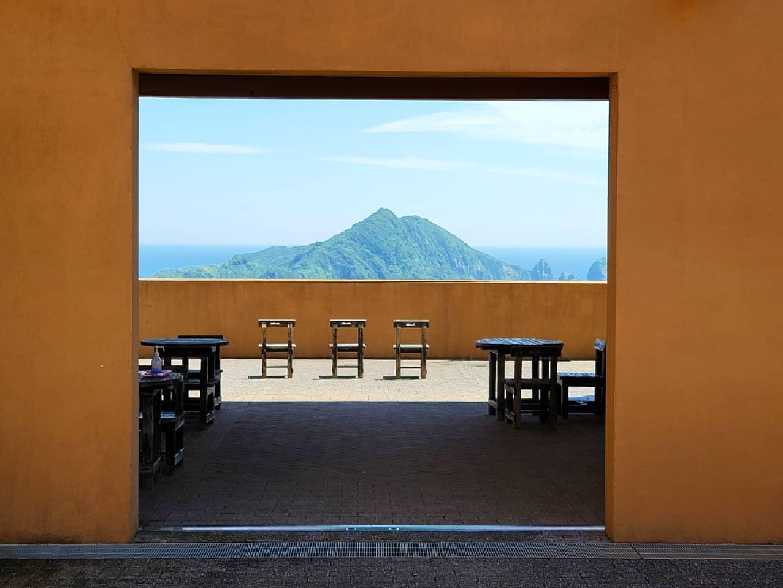 笠沙美術館から望む沖秋目島