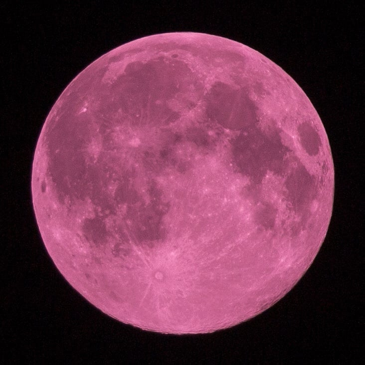 スマホで満月を撮影